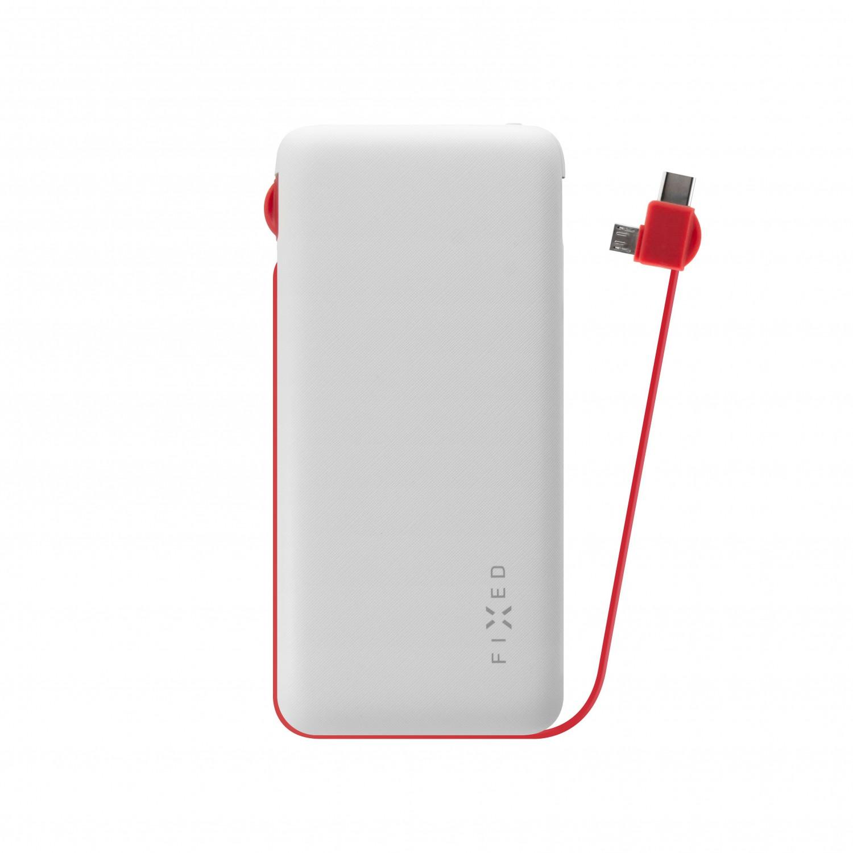 Powerbanka FIXED Zen 10 000 s kabelem microUSB/USB-C white