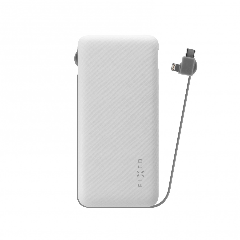 Powerbanka FIXED Zen 10 000 s kabelem Lightning/USB-C white