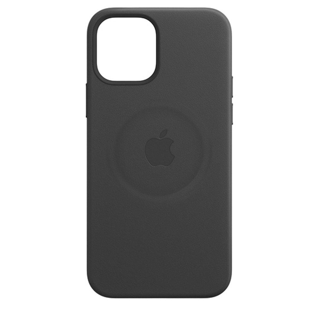 Apple kožený kryt, pouzdro, obal s MagSafe Apple iPhone 12/12 Pro black