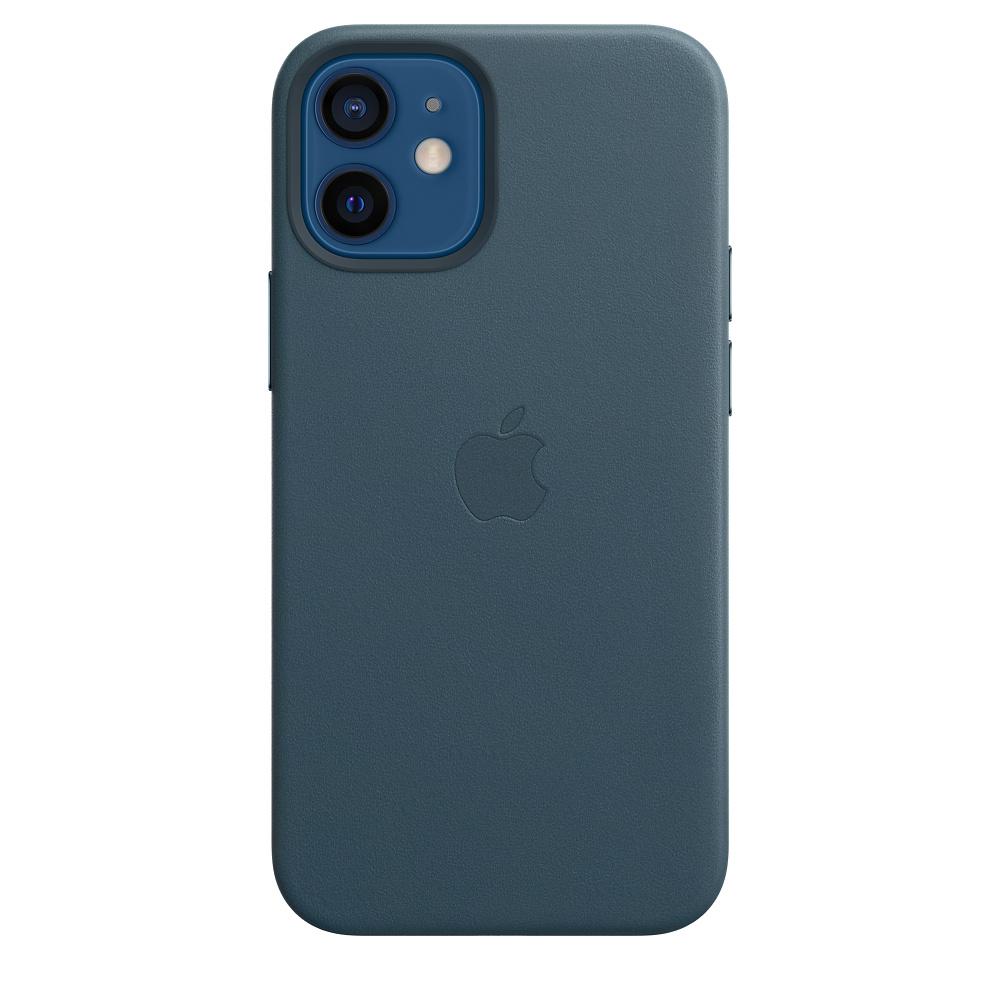 Apple kožený kryt, pouzdro, obal s MagSafe Apple iPhone 12 mini baltic blue