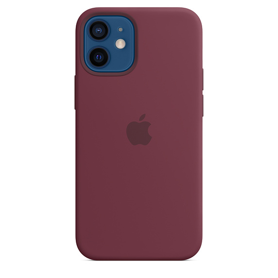 Apple silikonový kryt, pouzdro, obal s MagSafe Apple iPhone 12 mini plum