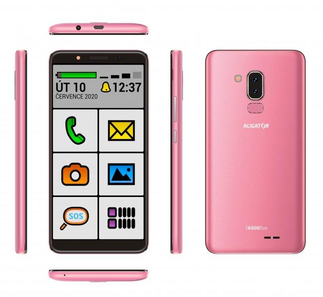 ALIGATOR S6000 SENIOR Duo 16GB růžový
