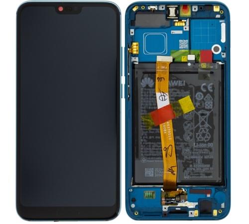 LCD + dotyk + predný kryt + batérie pre Honor 10, green (Service Pack)
