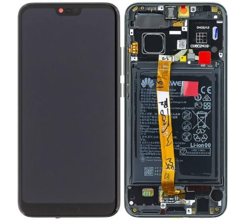 ND Honor 10 LCD + dotyková jednotka + predný kryt black / čierna (Service Pack)