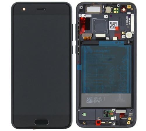 LCD + dotyk + rámček + batérie pre Honor 9, black (Service Pack)