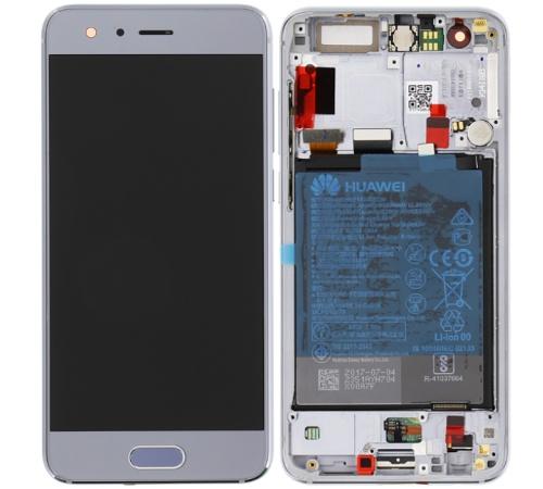 LCD + dotyk + rámček + batérie pre Honor 9, grey (Service Pack)