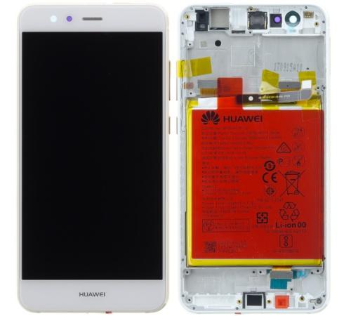 LCD + dotyk + predný kryt + batérie pre Huawei P10 Lite, white (Service Pack)