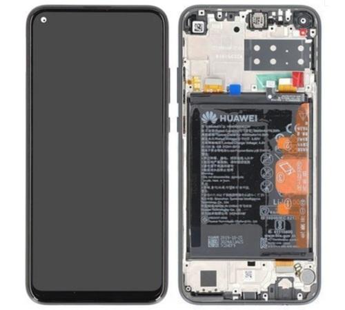LCD + dotyk + rámček + batéria pre Huawei P40 Lite E, aurora blue (Service Pack)