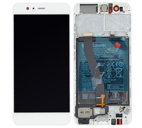 LCD + dotyk + predný kryt + batérie pre Huawei P10, white (Service Pack)