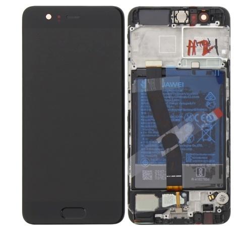 LCD + dotyk + predný kryt + batérie pre Huawei P10, black (Service Pack)