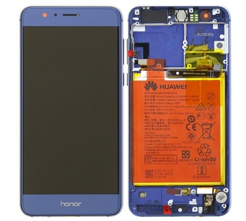LCD + dotyk + rámček + batérie pre Honor 8, blue (Service Pack)