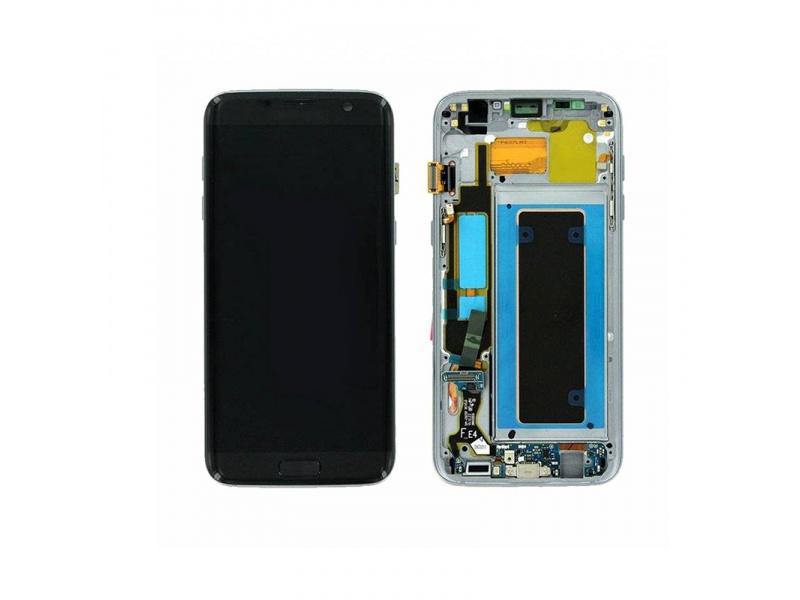 LCD + dotyk + rámček pre Samsung Galaxy S7 Edge, black (Service Pack)