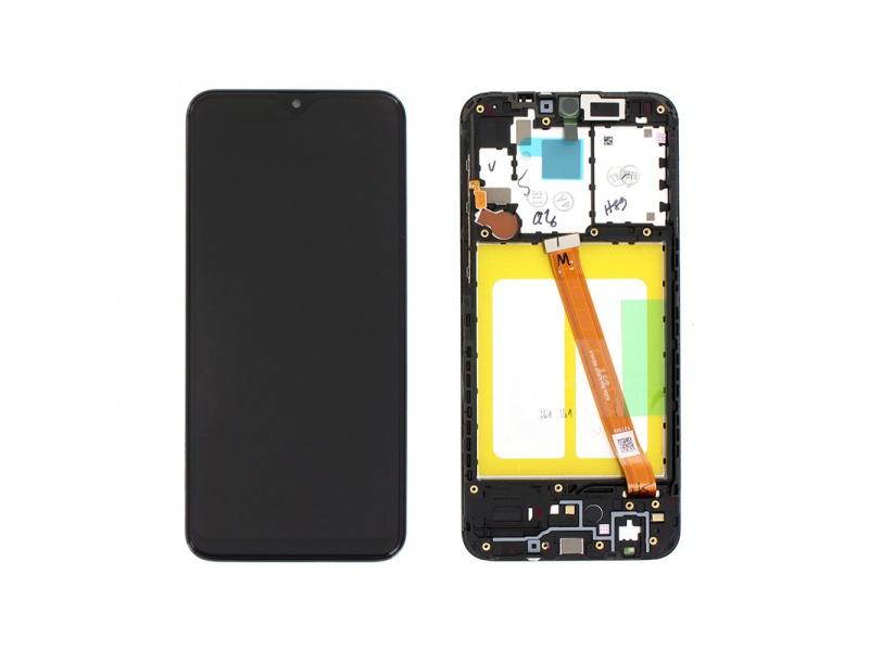 LCD + dotyk + rámček pre Samsung Galaxy A20e, black (Service Pack)