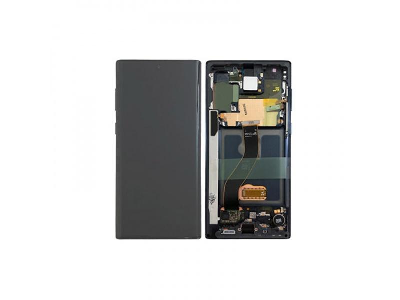 LCD + dotyk + rámček pre Samsung Galaxy Note 20 Ultra 5G, black (Service Pack)