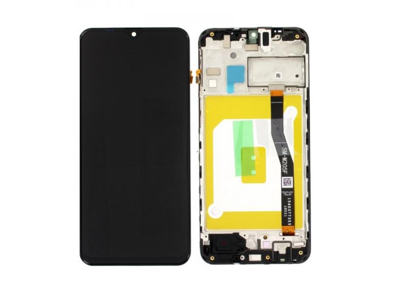 LCD + dotyk + rámček pre Samsung Galaxy M20, black (Service Pack)