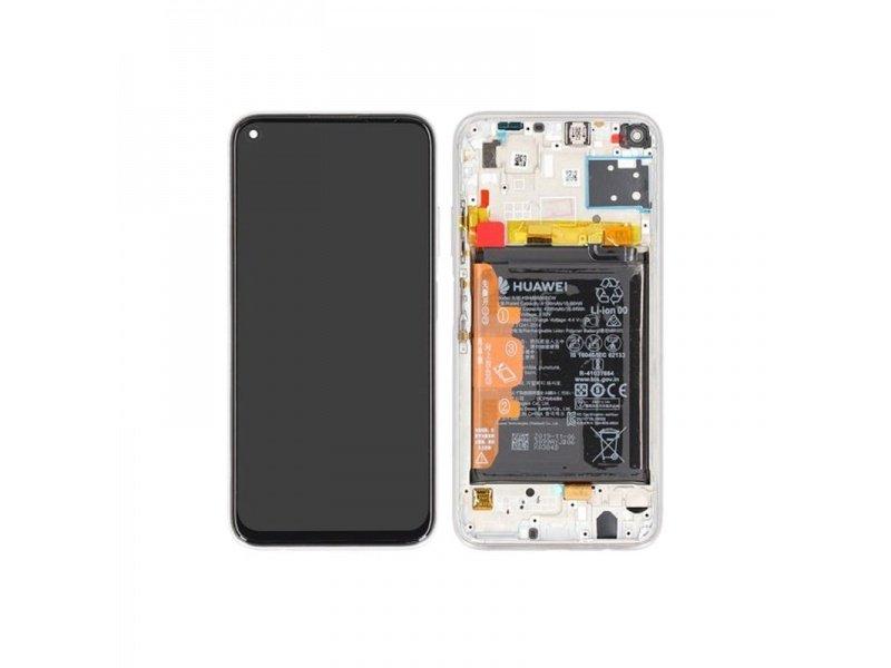 LCD + dotyk + rámček pre Huawei P40 Lite, Breathing Crystal (Service Pack)