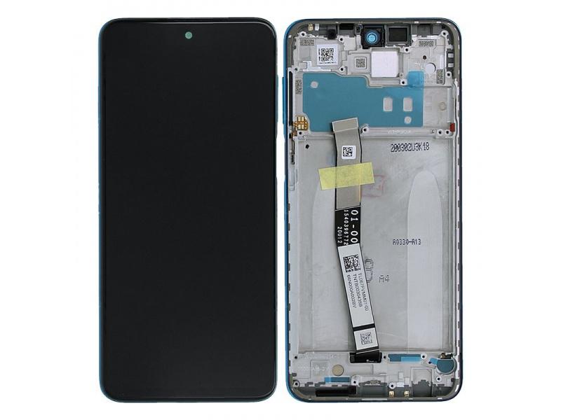 LCD + dotyk + rámček pre Xiaomi Redmi Note 9S, aurora blue (Service Pack)
