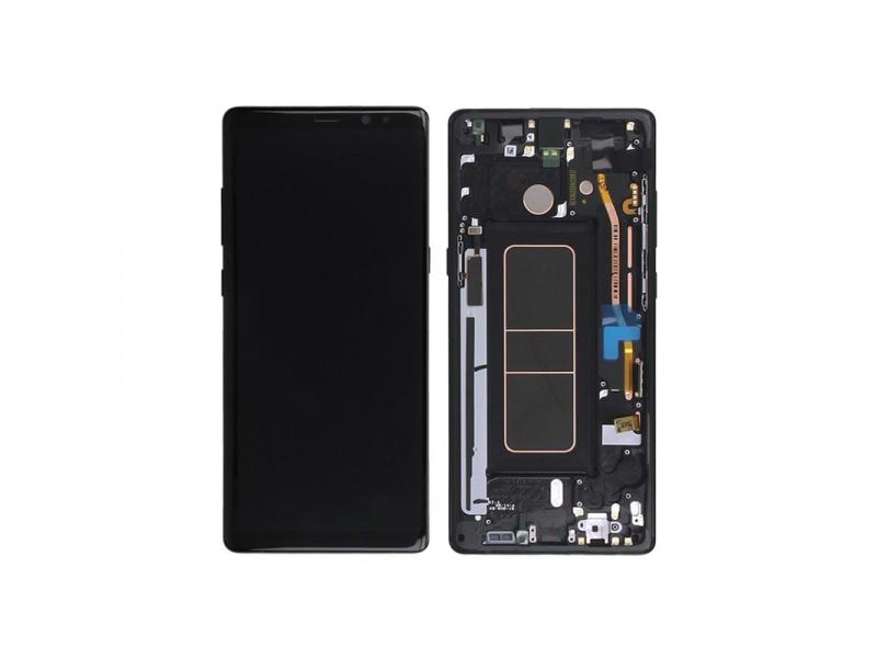 LCD + dotyk + rámček pre Samsung Galaxy Note 8, black (Service Pack)