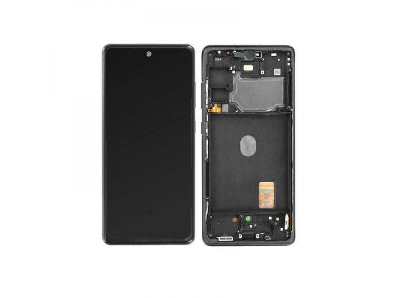 LCD + dotyk + rámček pre Samsung Galaxy S20 FE, cloud navy (Service Pack)
