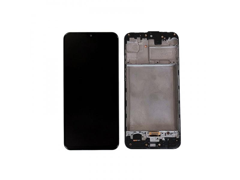 LCD + dotyk + rámček pre Samsung Galaxy M31, space black (Service Pack)