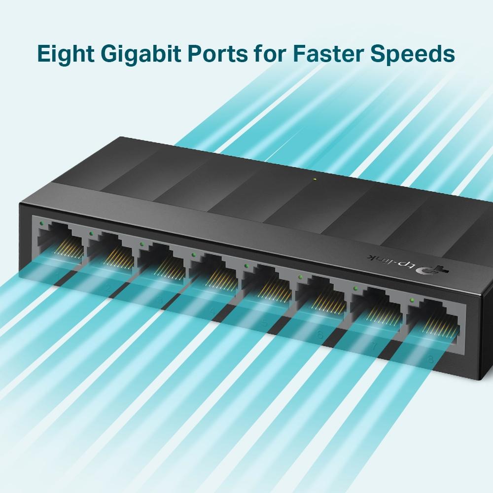 TP-Link LS1008G - 8-Portový gigabitový stolní switch