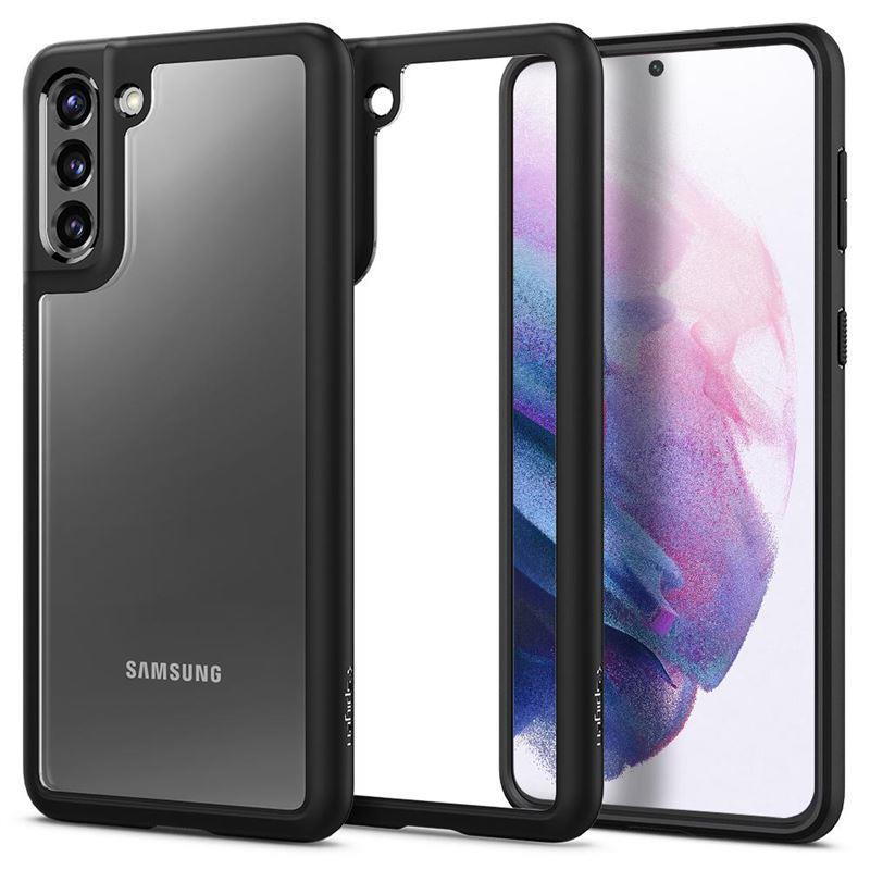 Ochranný kryt Spigen Ultra Hybrid pre Samsung Galaxy S21, čierna