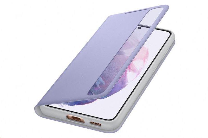 Flipové puzdro Clear View Cover EF-ZG991CVEGEE pre Samsung Galaxy S21, fialová