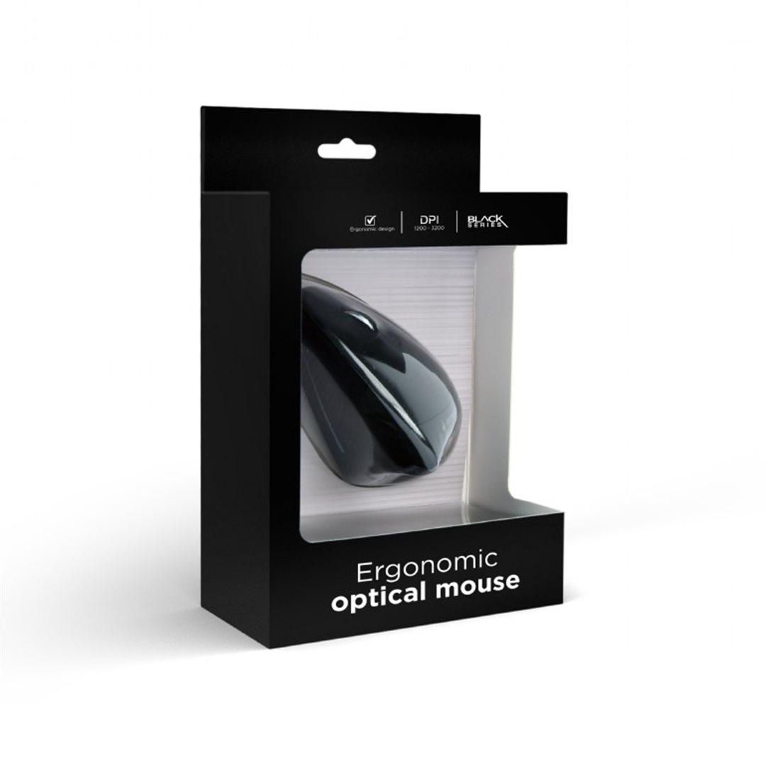 Vertikální optická myš GEMBIRD MUS-ERGO-01, bezdrátová, černá