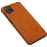 Nillkin Qin flipové pouzdro pro Samsung Galaxy A12, hnědá