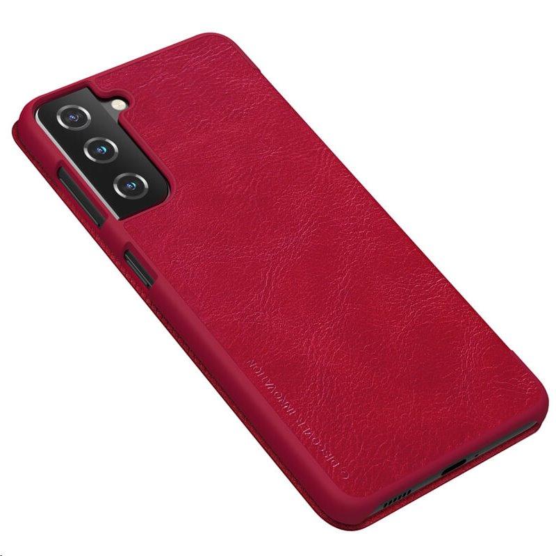 Nillkin Qin flipové pouzdro pro Samsung Galaxy S21 Plus, red