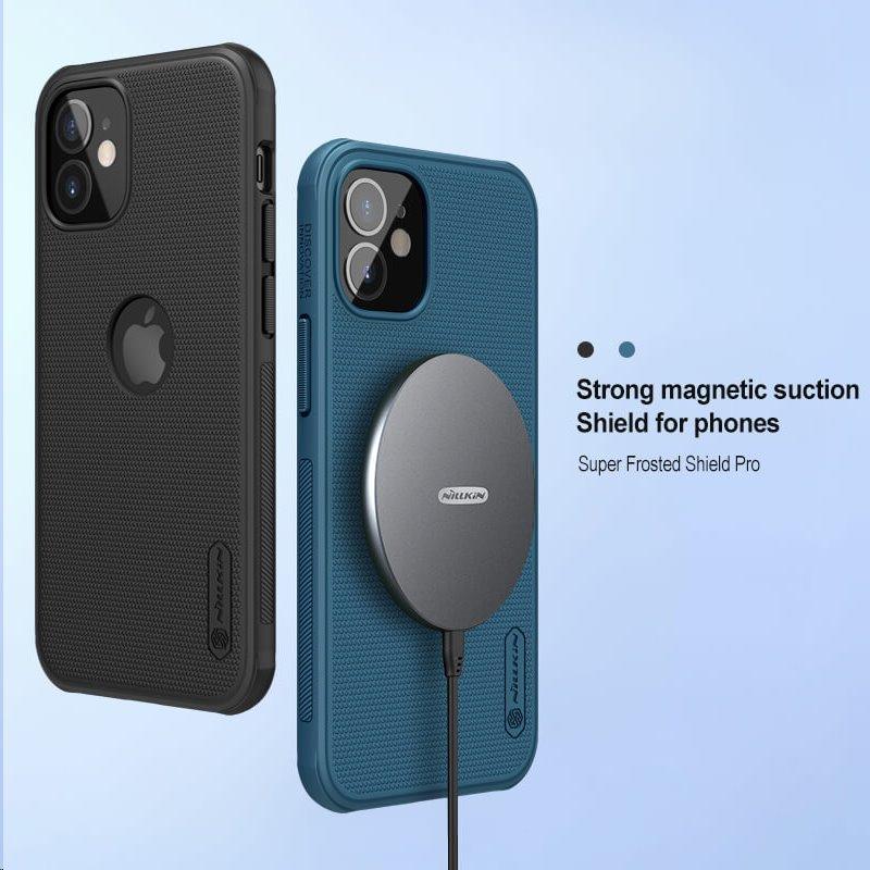 Zadní kryt Nillkin Super Frosted PRO Magnetic pro Apple iPhone 12 mini, modrá