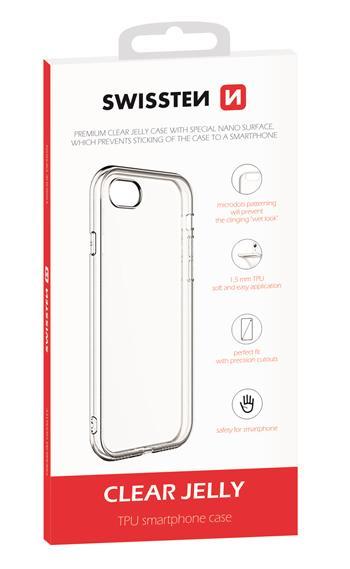 Silikonové pouzdro Swissten Clear Jelly pro Samsung Galaxy S21, transparentní