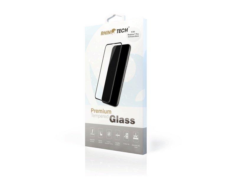Tvrzené sklo RhinoTech 2, 2.5D sklo pro Realme 7 Pro, plné lepení, transparentní
