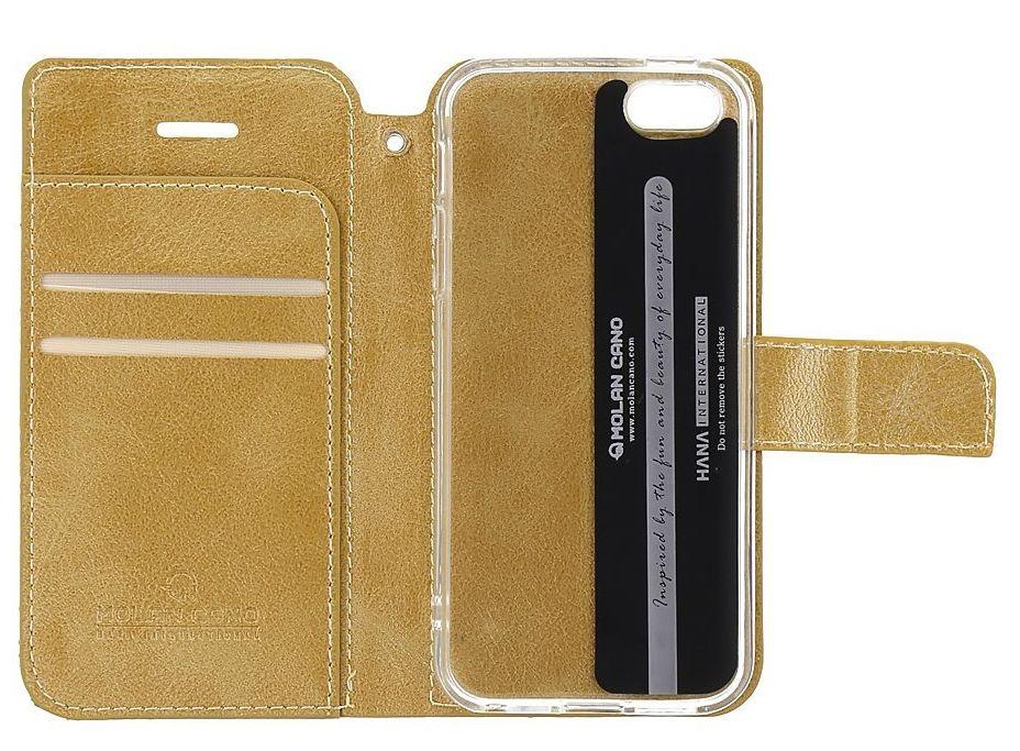 Molan Cano Issue Book Pouzdro pro Samsung Galaxy A02s Gold