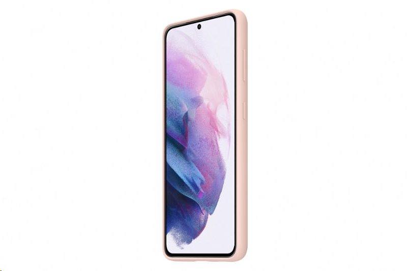 Silikonové pouzdro Samsung EF-PG991TPE pro Samsung Galaxy S21, růžová