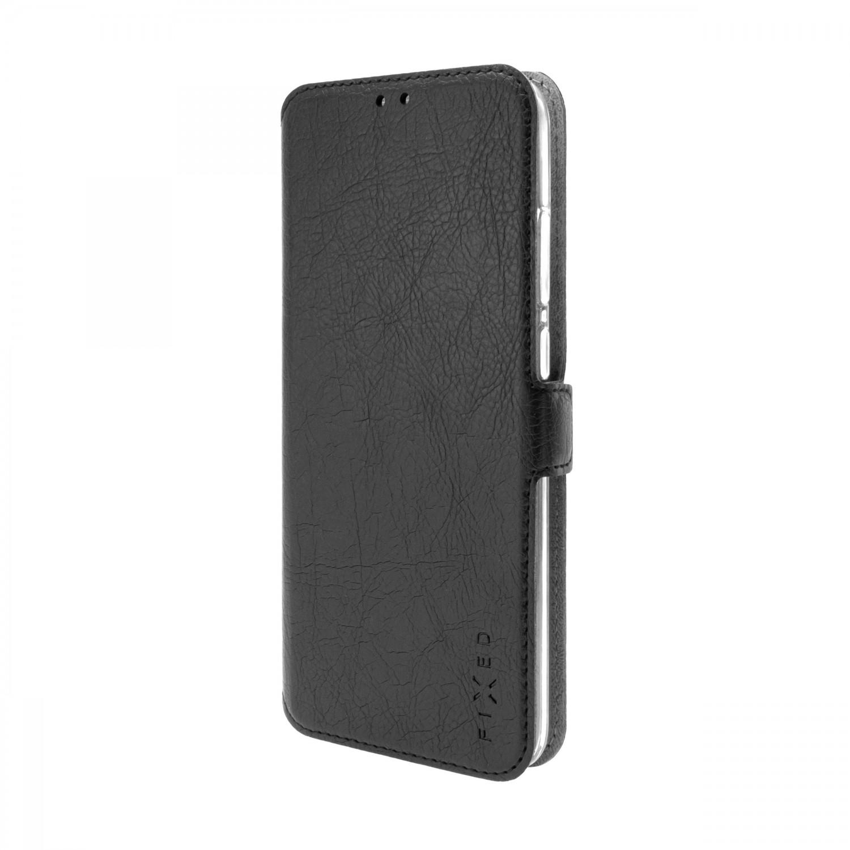 FIXED Topic flipové pouzdro pro Samsung Galaxy A02s, černá