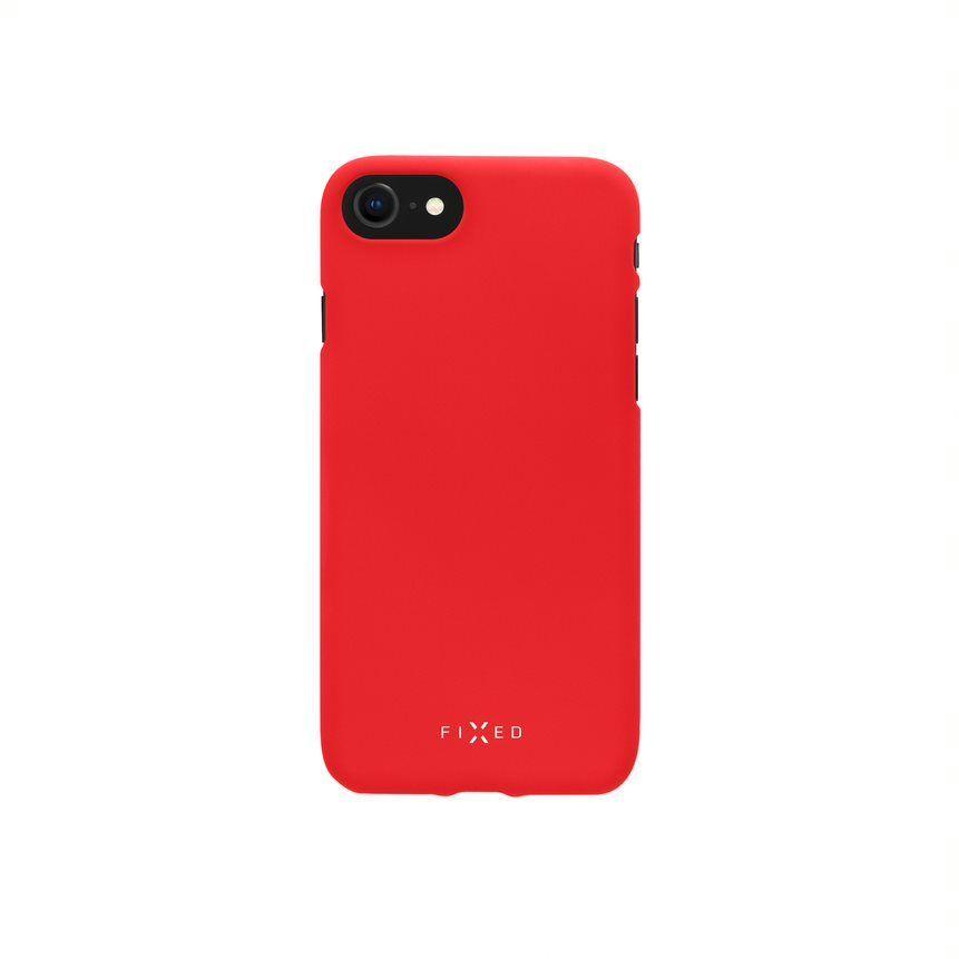 Zadní pogumovaný kryt FIXED Story pro OnePlus 8T, červený