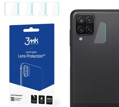 Hybridní sklo 3mk Lens ochrana kamery pro Samsung Galaxy A12