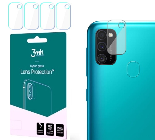 Hybridní sklo 3mk Lens ochrana kamery pro Samsung Galaxy M21