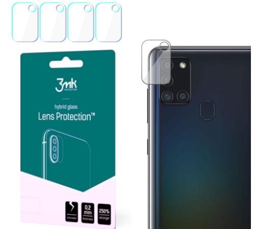 Hybridní sklo 3mk Lens ochrana kamery pro Samsung Galaxy A21s