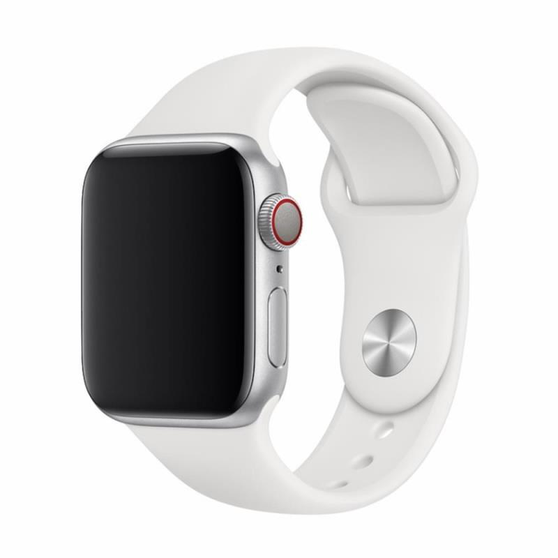 Řemínek Devia Deluxe Sport pro Apple Watch 44mm/42mm bílý