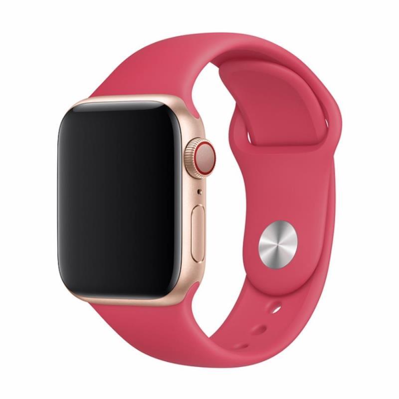 Řemínek Devia Deluxe Sport pro Apple Watch 44mm/42mm červený