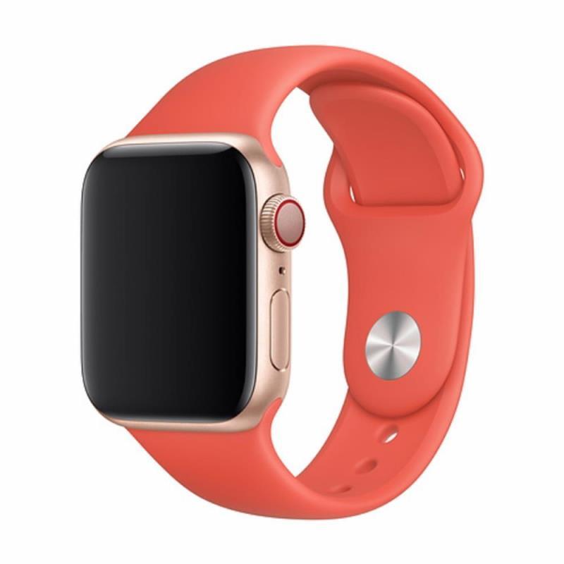 Řemínek Devia Deluxe Sport pro Apple Watch 44mm/42mm oranžový