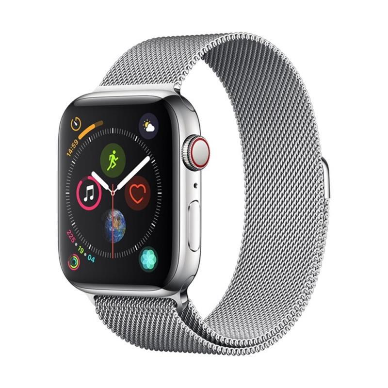 Řemínek Devia Elegant Milanese pro Apple Watch 44mm/42mm stříbrný
