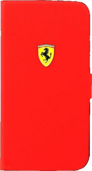 Flipové pouzdro Ferrari Rubber Book pro Samsung Galaxy S4, red
