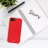 Zadní pogumovaný kryt FIXED Story pro Samsung Galaxy S21+, červený