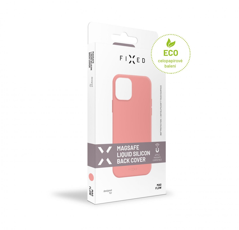 Zadní kryt FIXED MagFlow s podporou Magsafe pro Apple iPhone 12 mini, růžový