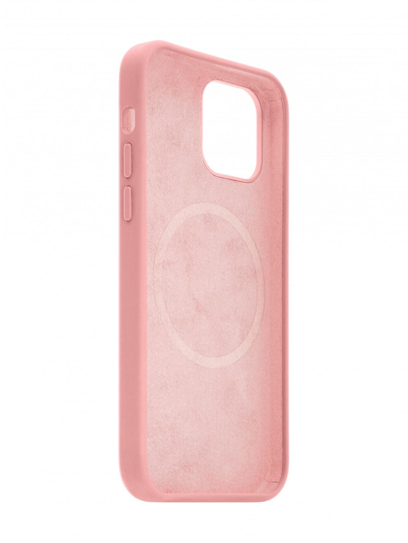 Zadní kryt FIXED MagFlow s podporou Magsafe pro Apple iPhone 12/12 Pro, růžový
