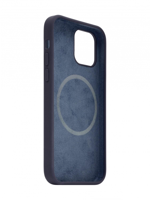 Zadní kryt FIXED MagFlow s podporou Magsafe pro Apple iPhone 12 Pro Max, modrý