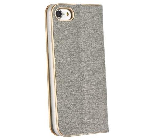 Flipové pouzdro Forcell Luna Book pro Samsung Galaxy A32 5G, stříbrná